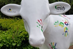 MIB unveil Herd About MK Cow with support of The Children's Trust in celebration of MK's 50th Birthday