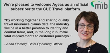 MIB welcomes Ageas as a CUE Travel subscriber