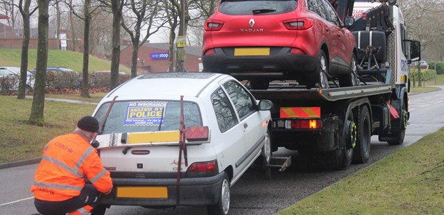 Police seize the UK's 2 millionth uninsured vehicle